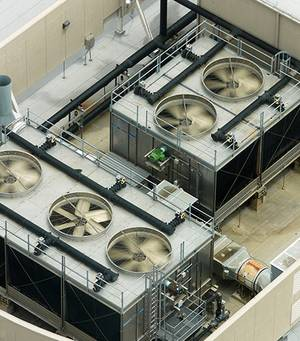 Making air conditioning of servers electrically safe